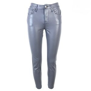 Seven7 mid rise skinny jeans waxed coated